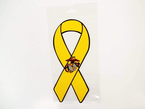 Ribbon Magnet with EGA Emblem - Yellow Magnet