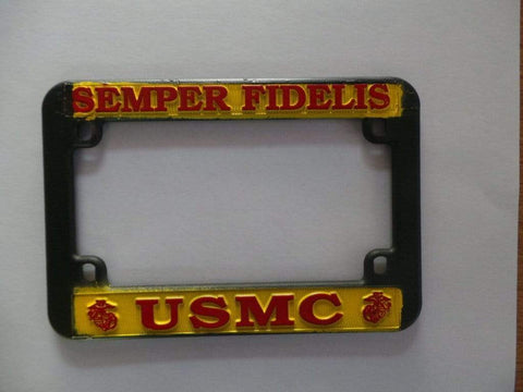 Semper Fi Motorcycle License Plate Frame License Plate