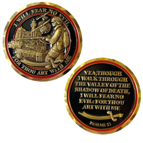 Shadow Of Death Challenge Coin - Psalms 23:4 Challenge Coins