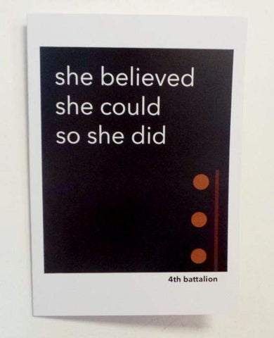 She Believed She Could, So She Did Card Greeting Card