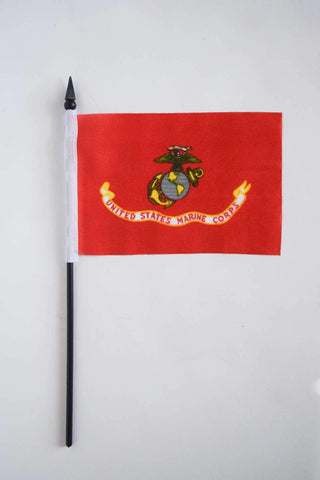 Single Stick Flag - American flag, USMC and POW/MIA Flag