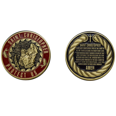 ST. Christopher Coin Challenge Coins