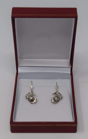 Sterling Silver Small EGA Earrings Jewelry