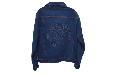 U.S Marine Embossed Logo Denim Jacket jacket
