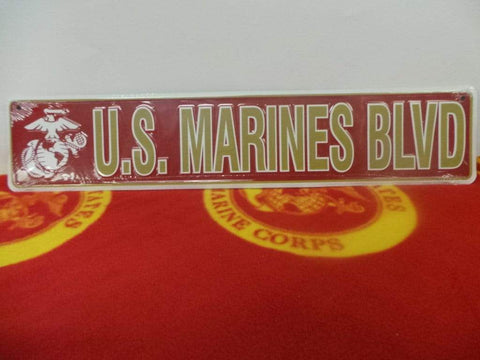 U.S. Marines Blvd Sign Signs