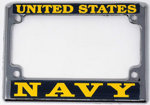 U.S. Navy Motorcycle License Plate Frame Auto