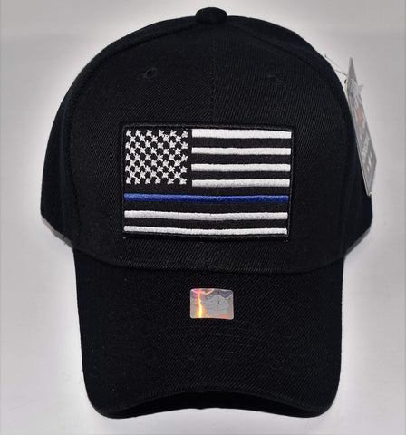 United States Blue / Red Line Flag Hat Hats
