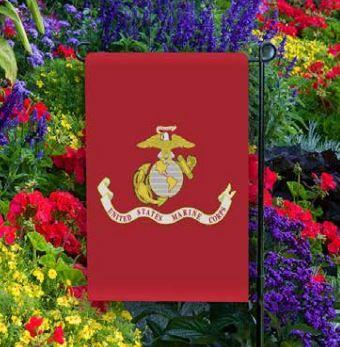 United States Marine Corps Garden Flag with Pole Flag