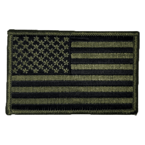 USA Flag Patch Olive Patches