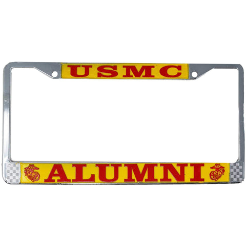 USMC Alumni License Plate Frame License Plate