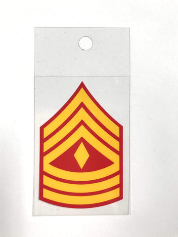 USMC E-8 1st Sgt Decal Decal
