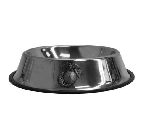 USMC Metal Pet Bowl with EGA Pets