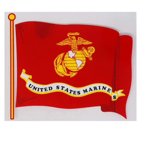 USMC Wavy Flag Decal Decal