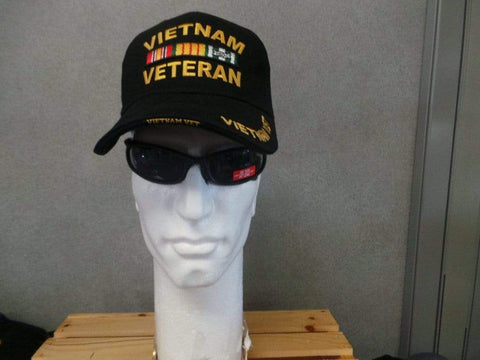 Vietnam Veteran Hat - Black Hats