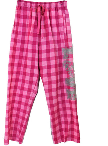 Women's Pink Flannel Pajamas Bottoms
