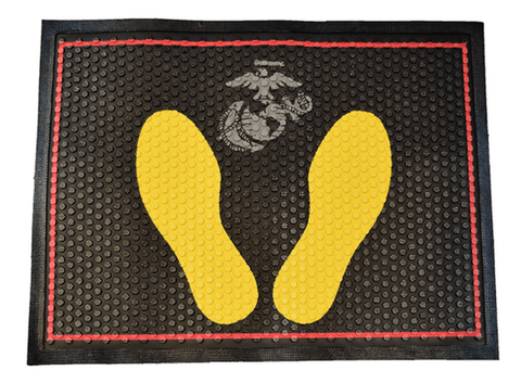 Yellow Footprints Mat Doormat