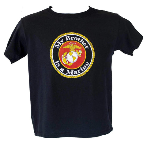 Youth My Brother Is A Marine T-Shirt Youth Apparel