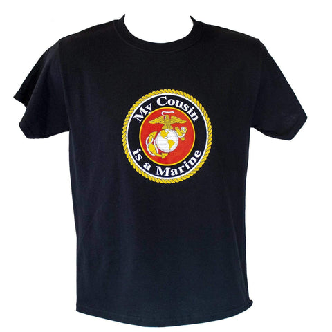 Youth My Cousin is a Marine T-Shirt Youth Apparel