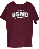 Youth Proud USMC Sister T-Shirt Youth Apparel
