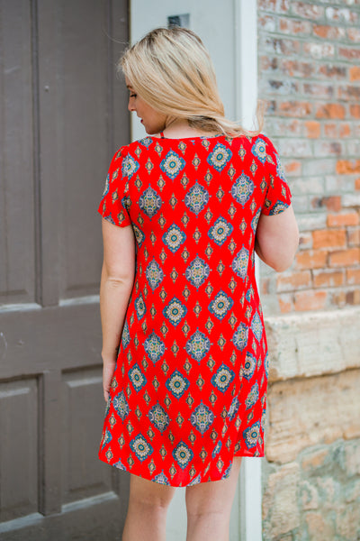 Vibrant Red Tunic
