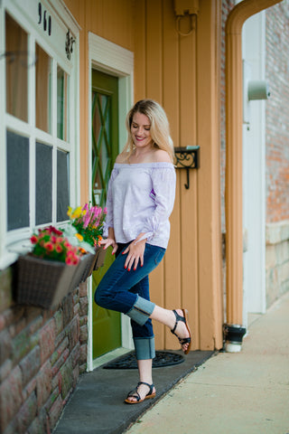 Lilac Off Shoulder Top