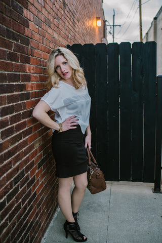 Chocolate Pencil Skirt