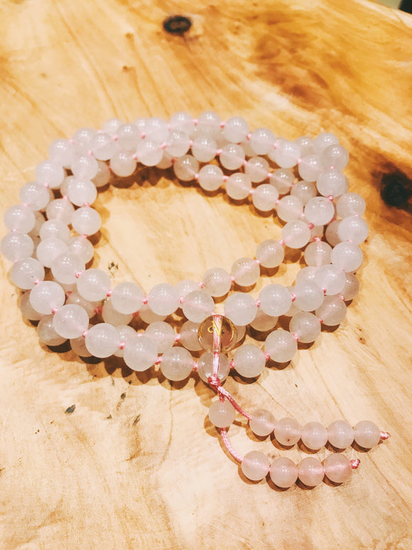 Crystal Mala + Rose Quartz - Earth's Elements