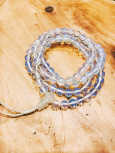 Crystal Mala +Simple Opalite - Earth's Elements