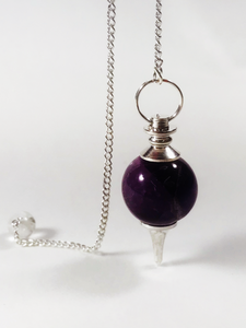 Pendulum Sphere Amethyst - Earth's Elements