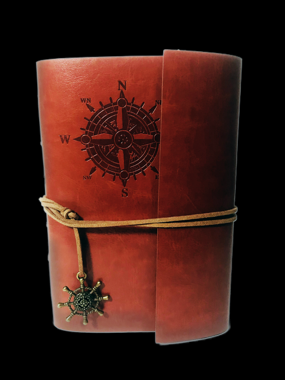 Compass Leather Journal - Earth's Elements