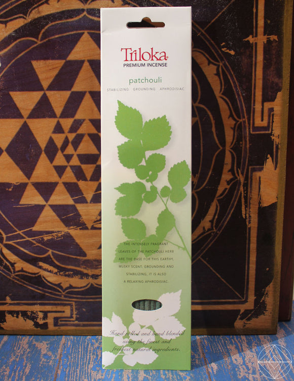 Triloka Patchouli Incense - Earth's Elements