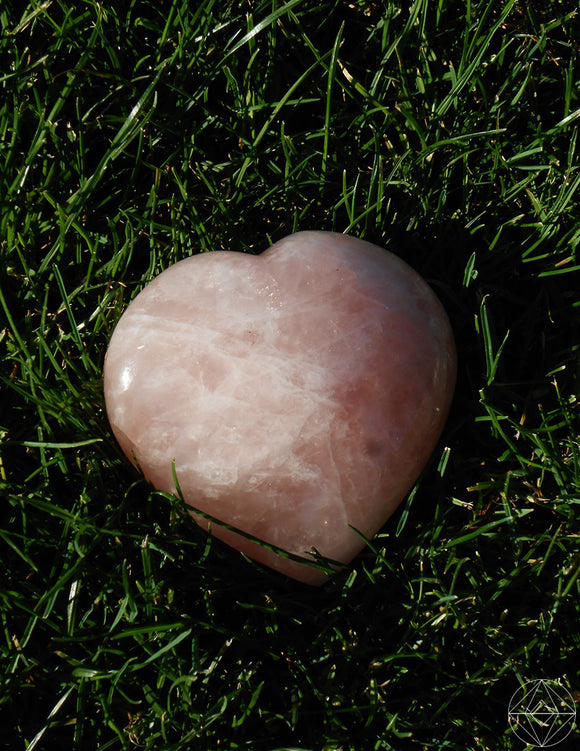Large Rose Quartz Heart - Earth's Elements