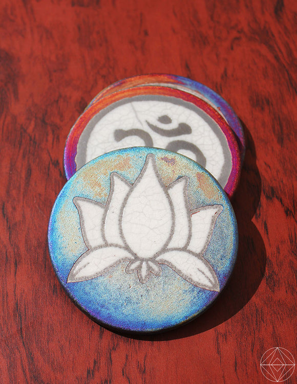 Raku Lotus Coaster - Earth's Elements