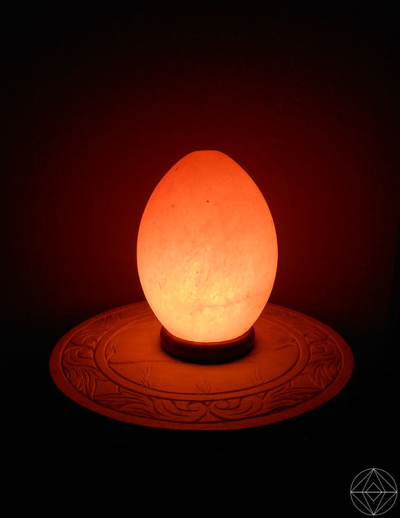 Primordial Egg Salt Lamp - Earth's Elements