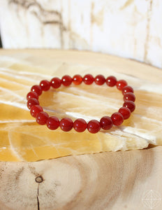 Crystal Bracelet: Carnelian - Earth's Elements