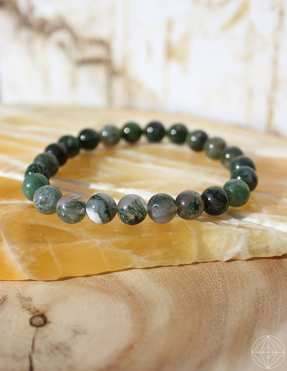 Crystal Bracelet: Moss Agate - Earth's Elements