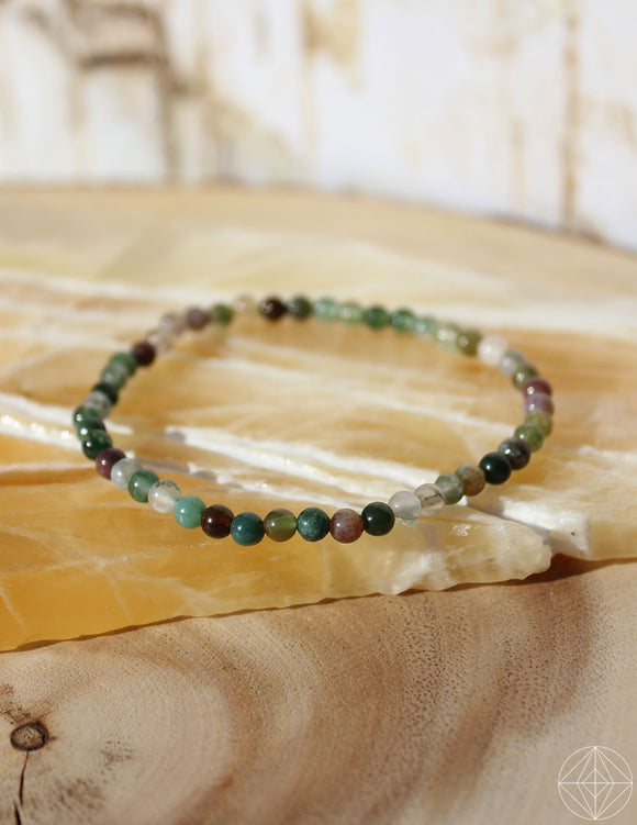Petite Spirit Bracelet: Moss Agate - Earth's Elements