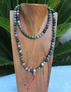 Crystal Mala + Bloodstone - Earth's Elements
