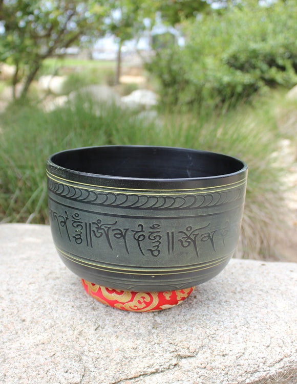 Black Indian Singing Bowl Deep 9.5