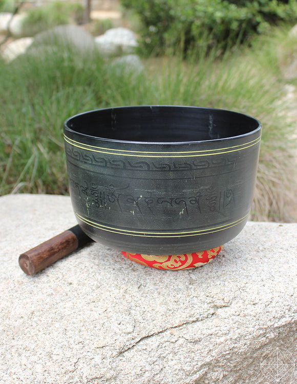 Black Indian Singing Bowl Deep 10.5