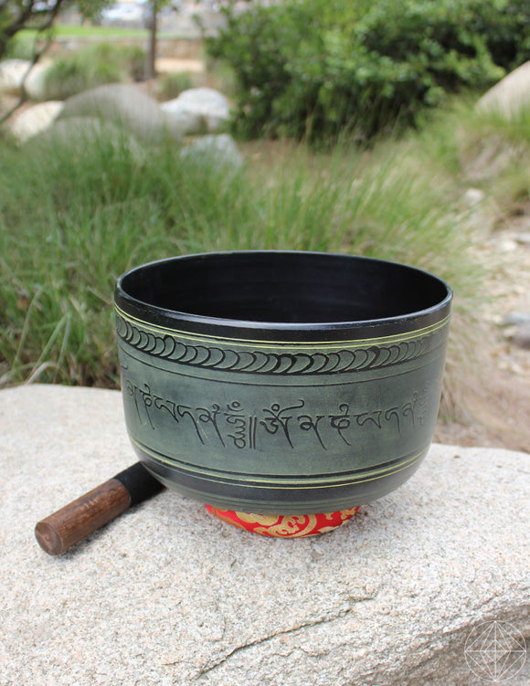 Black Indian Singing Bowl Deep 11