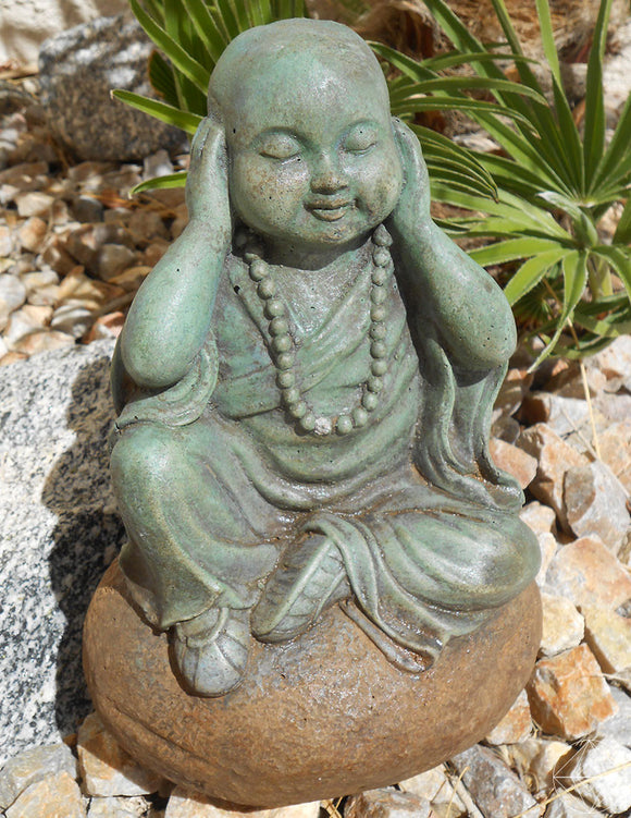 Hear No Evil Baby Buddha - Earth's Elements