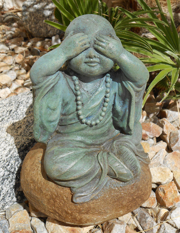 See No Evil Baby Buddha - Earth's Elements