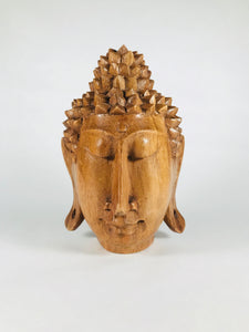Wooden Buddha Head - Earth's Elements