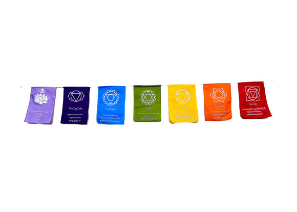 Chakra Wellbeing Prayer Flag - Earth's Elements