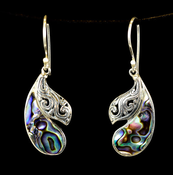 Silver Abalone Earrings - Earth's Elements