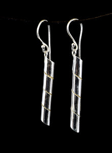 Silver Twisted Earrings - Earth's Elements
