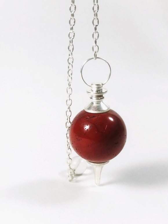 Pendulum Sphere Red Jasper - Earth's Elements