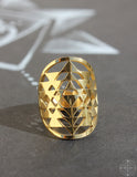 "Sacred Geo Ring - Sri Yantra ""Gold"" - Earth's Elements"