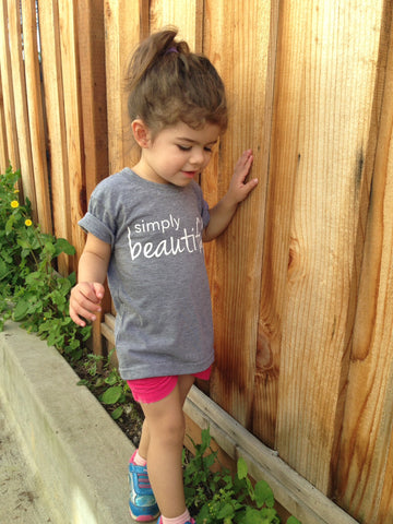 SALE - Simply Beautiful American Apparel Triblend Gray Toddler Tshirt or Cotton Onesie
